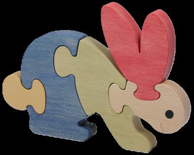 Puzzle en bois Lapin