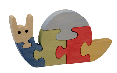 Puzzle en bois Escargot