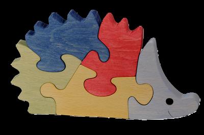 Puzzle en bois Hérisson