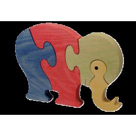 Le Puzzle en bois Eléphant