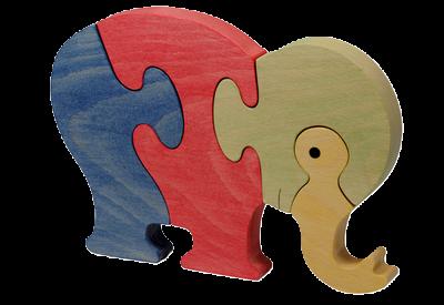 Puzzle en bois Eléphant