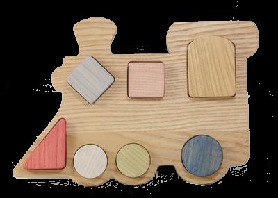 Puzzle en bois Train à Encastrement