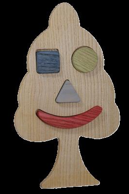 Puzzle en bois Arbre à Encastrement