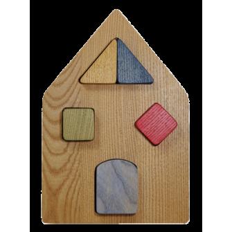 Le Puzzle en bois Maison à Encastrement