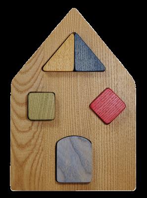 Puzzle en bois Maison à Encastrement