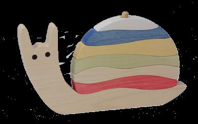 Puzzle en bois Vertical Escargot