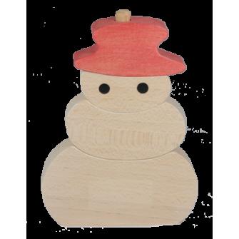 Puzzle en bois vertical bonhomme de neige - Bonhomme de neige en bois ...