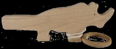 Le Bilboquet en bois Rhinocéros