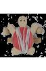 La Tortue Grimpeuse rouge en bois