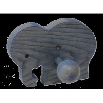Le Portemanteau Elephant en bois éléphant bleu