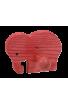 Le Portemanteau Elephant en bois éléphant rouge