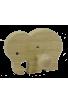 Le Portemanteau Elephant en bois éléphant vert