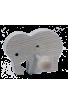 Le Portemanteau Elephant en bois éléphant violet