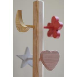 Le Portemanteau en bois sur pied Fille - un monde de bois