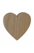 Sujet Mariage Coeur en bois personnalisé