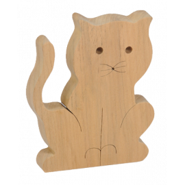 Le Petit Chat en bois
