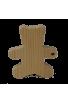 Sujet Baptême Nounours en bois