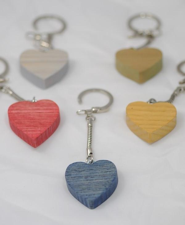 Le Porte-Clef Coeur en bois