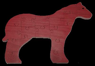 Puzzle en bois Cheval