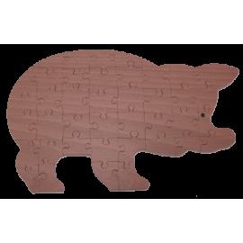 Puzzle en bois Cochon