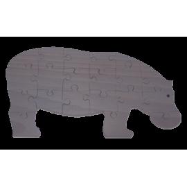 Puzzle en bois Hippopotame