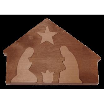 La Crèche de Noël en bois et en relief