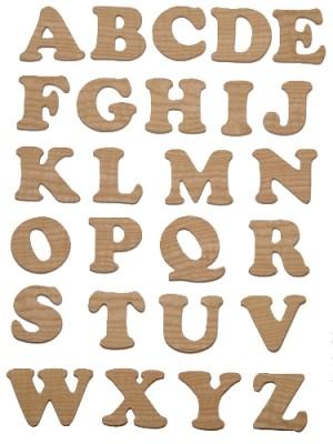 Lettres en bois découpées 5 cm