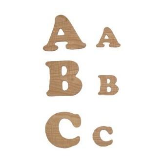 Lettres en bois découpées 9 cm