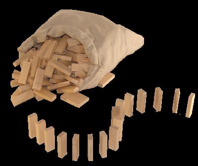 Les 300 buchettes en bois