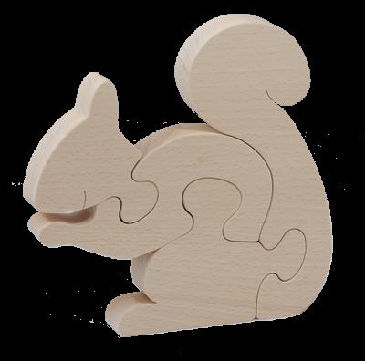 Puzzle Ecureuil en bois brut