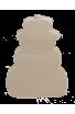 Puzzle Vertical Bonhomme de Neige en bois brut