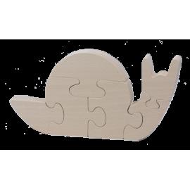 Puzzle Escargot en bois brut