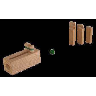 Le mini bowling en bois