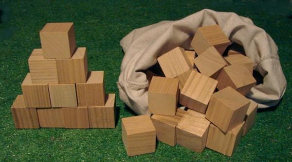 Les 70 cubes en bois