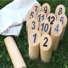 Le jeu de Mölkky en bois