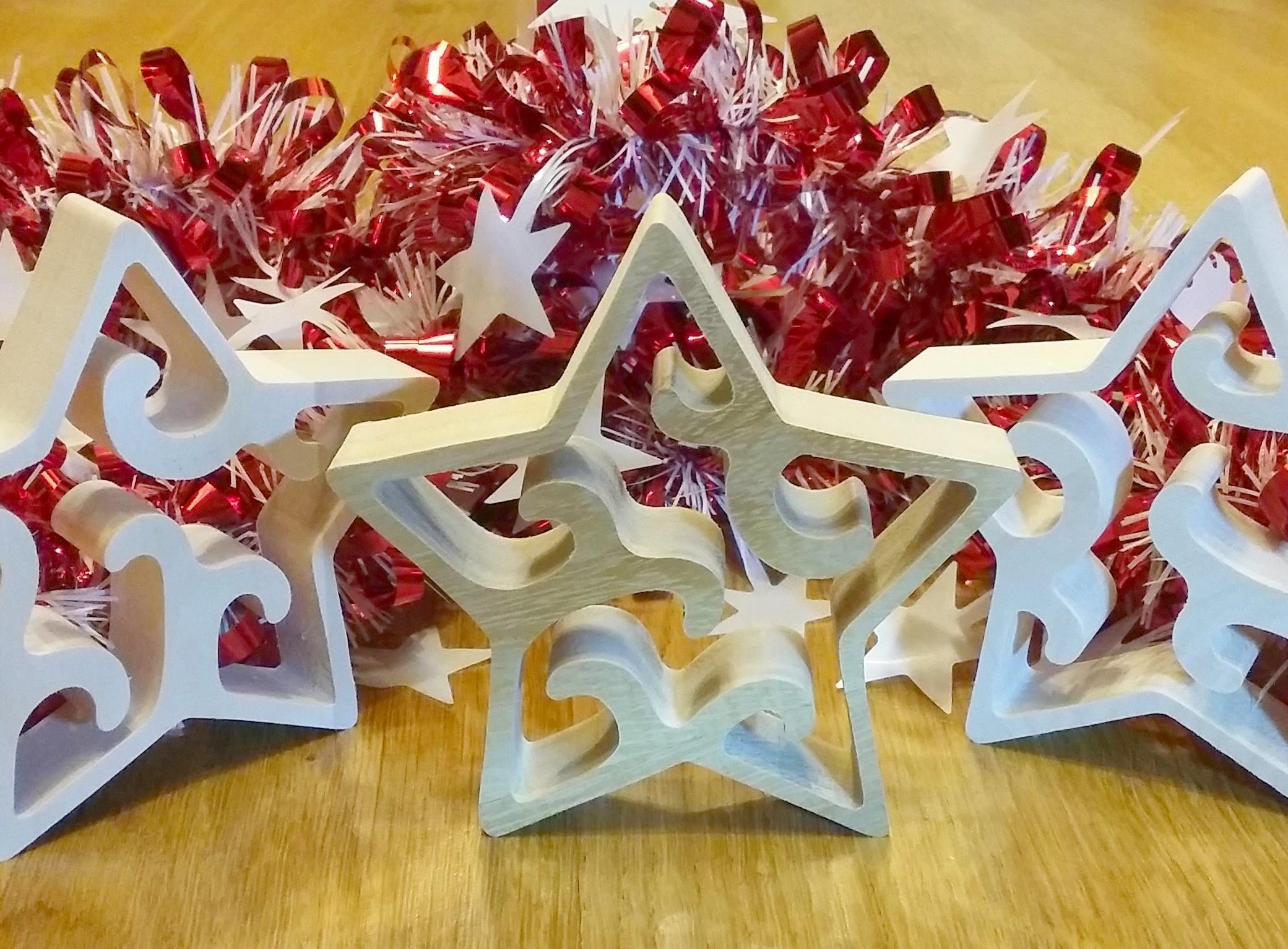 L'étoile de Noël en bois