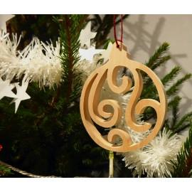 La boule de Noël en bois